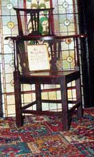 The chair where the spirit of the 'malevolent' Branwell sat