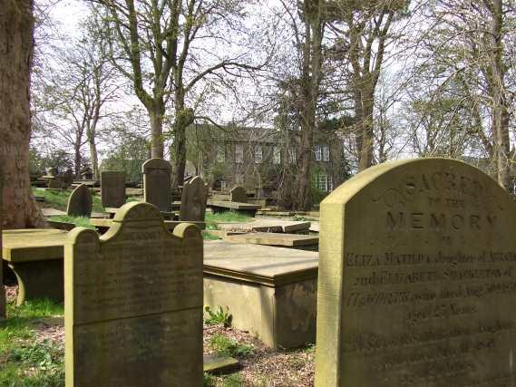haworth graveyard in the daylight