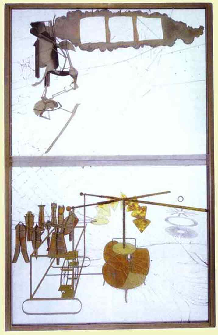Duchamp large glass Bride stripped bare by her batchelors