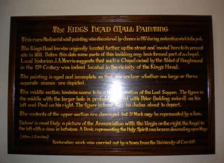 kings head wall painting info