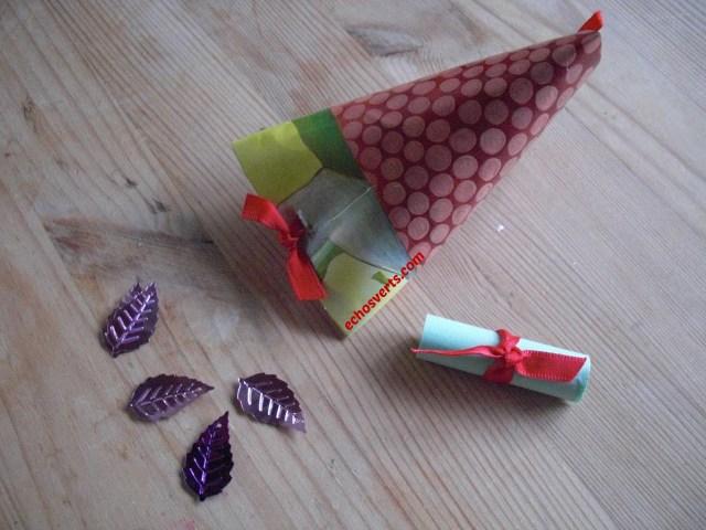 Emballage cadeau- récup- rouleau papier toilette-copyright- échos verts