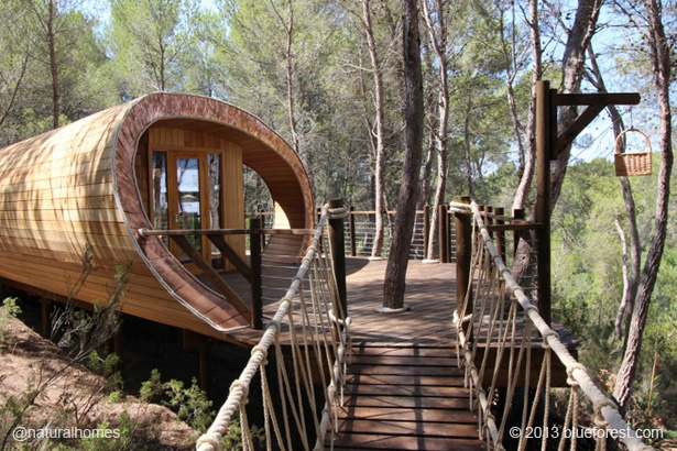 Fibonacci Treehouse Spain naturalhomes.org