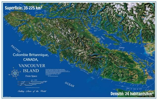 Plan de l'ile de Vancouver- échos verts