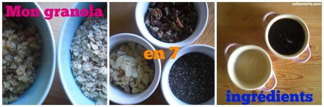 Granola maison- 7 ingrédients- zéro déchet- copyright- échos verts
