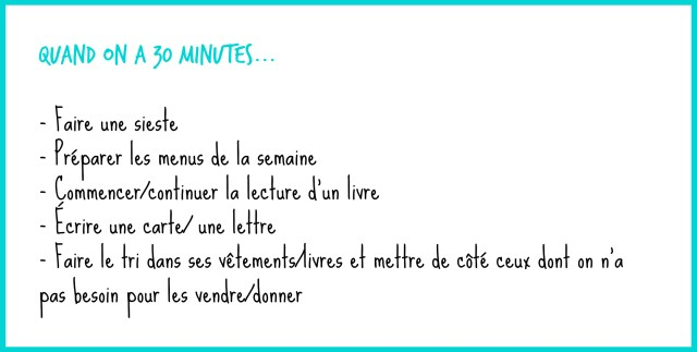 Quand on a 30 minutes- copyright - échos verts