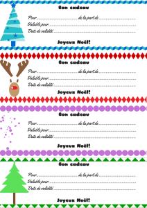 4 bons cadeaux- contours et motifs