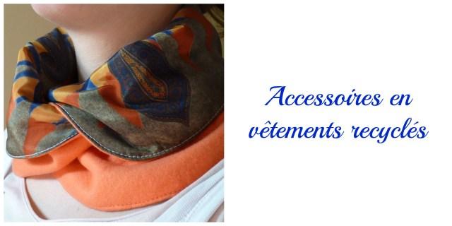 Accessoirs vêtements recyclés- cadeau écolo femme