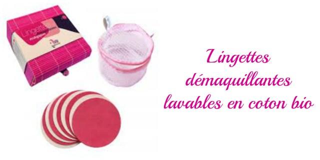 Lingettes démaquillantes lavables coton bio- cadeau écolo femmes