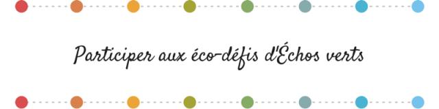 Bonne résolution 2015- éco-défis d'échos verts