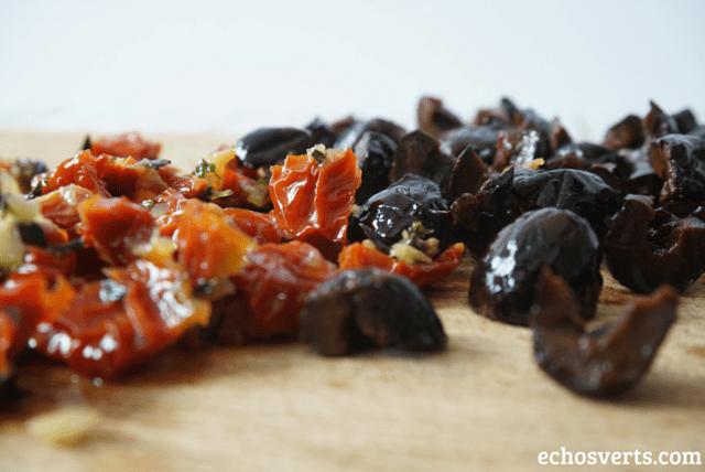 Polenta olives tomates séchées apéro végé echosverts.com