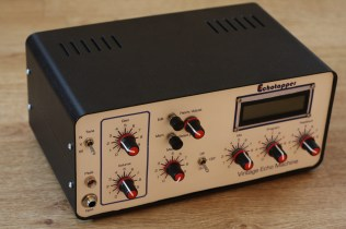 Front view of the finished Echotapper Vintage Echo Machine