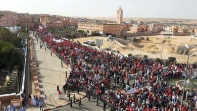 صورة احتجاجات مغربية ضد بان كي مون في الصحراء الغربية