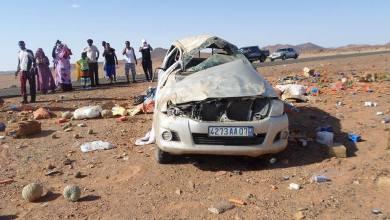 صورة وفاة أربعة أشخــاص في حادث سير مروع على طريق نواكشوط-أكجوجت