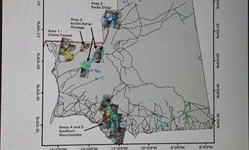 صورة تقرير آمريكي يحدد تواجد الذهب بموريتانيا في مناطق تازيازت وأمبــود والنعمة