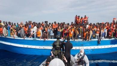 صورة ليبيــــا : إنقاذ 320 مهاجرا غير شرعي غرب طرابلس
