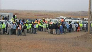 صورة توقف العمل بالكامل في تازيازت بعد إضراب عمالها