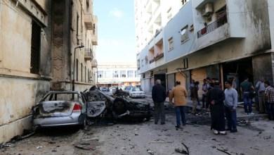 صورة ليبيا : قتلى وجرحى بتفجير سيارة مفخخة في بنغازي