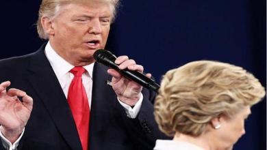 صورة ترامب يتوعّد كلينتون بالسجــن إذا فاز في الإنتخابات