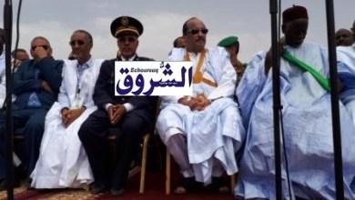 صورة الرئيس في عرفات تزامنا مع تساقطات الأمطار