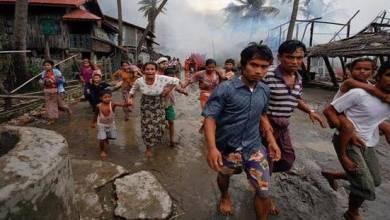 """صورة وسط صمت دولي: جيش ميانمار يقتل الآلاف من مسلمي """"الروهينغا"""" خلال 3أيام"""