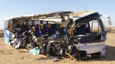 صورة قتيل و20 جريحا في إنقلاب باص عند الكلم 75 من العاصمة نواكشوط