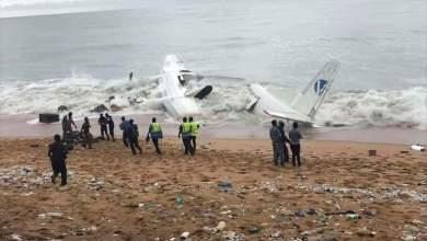 صورة ساحل العاج: سقوط طائرة بعد أقل من ساعة من الإقلاع (صور)