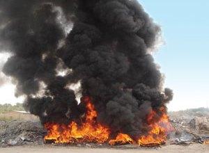 صورة نواكشوط: شكاوي من تزايد أعمدة الدخان في الولاية الشمالية