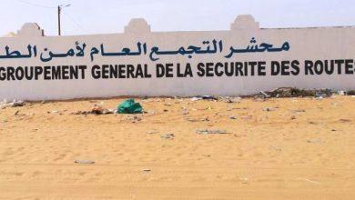صورة موريتانيا:عناصر من أمن الطرق يقتادون باص للسجناء إلى المحشر و يتسببون في تأخير محاكمة ولدغدة