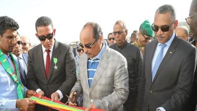 صورة الرئيس ولد عبديز يدشن عدة مشاريع تنموية  في ولاية الحوض الشرقي