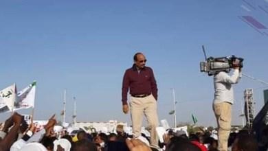 صورة الرئيس ولد عبد العزيز : حجم المشاركة في مسيرة المواطنة أبلغ رد على دعاة الفتنة والتفرقة