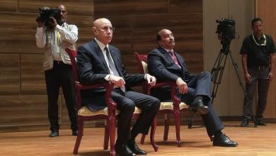 صورة رئيس المجلس الدستوري يرفض أوامر ولد عبد العزيز خلال حفل التنصيب