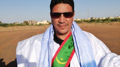 صورة كلمة النائب الحسن ولد باها لإذاعة موريتانيا خلال استقبال الرئيس غزواني في مطار كيهيدي