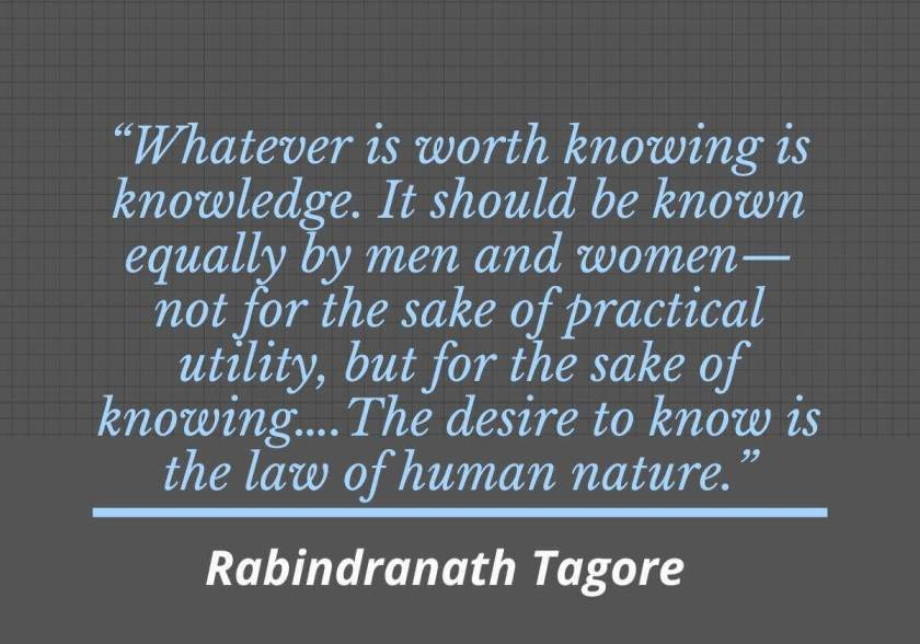 To highlight Tagore's educational philosophy.