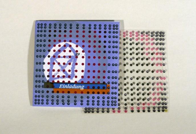 Einladungskarte, Klappkarte mit Folieneinleger