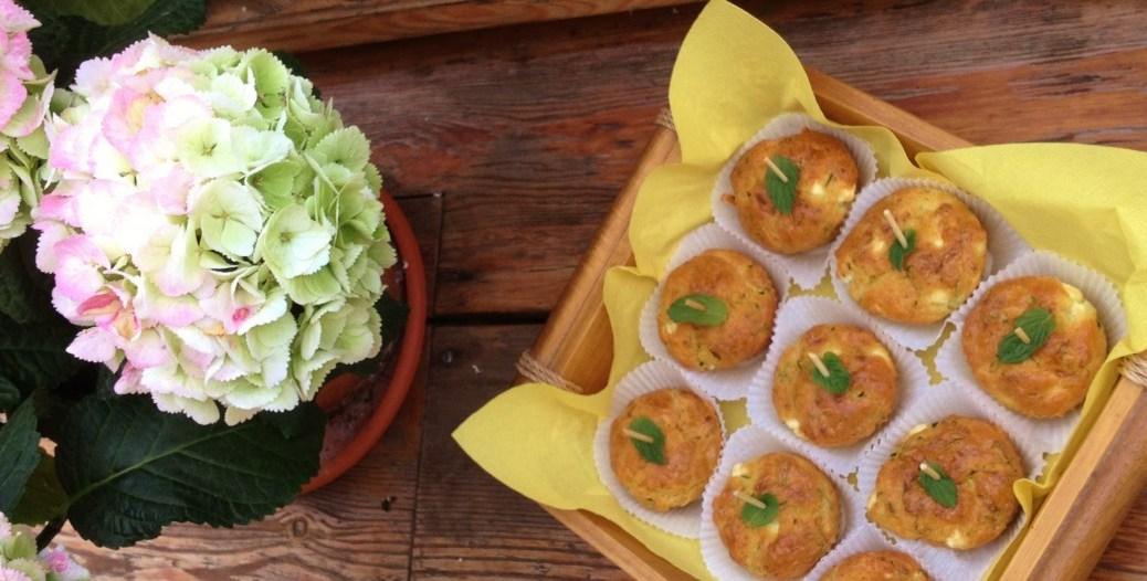 Zucchini-Schafskäse-Küchlein