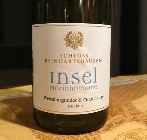 Wein Rheingau von der Insel Mariannenaue zu Kabeljau Loins mit KichererbsenSpinat IMG_0753