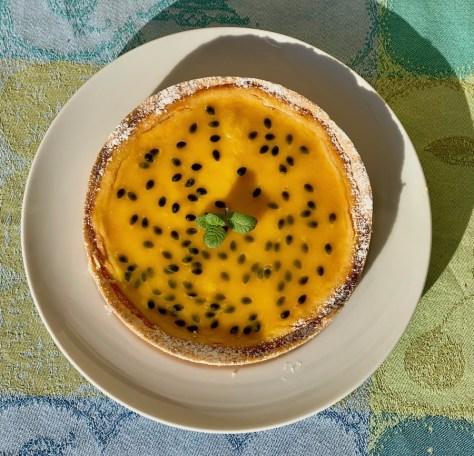 Kaesekuchen mit Passionsfrucht Kokos Ricotta Quark IMG_5297