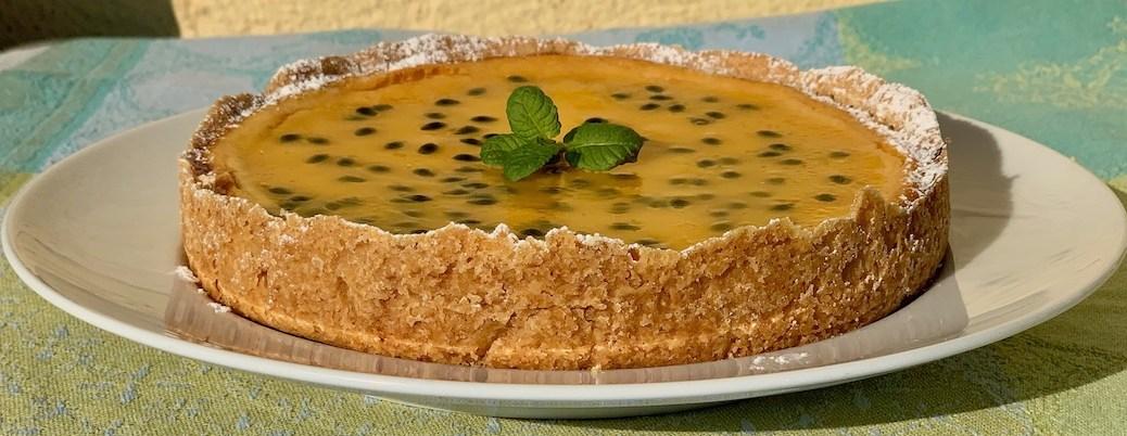 Ricotta Kaesekuchen mit Passionsfrucht Kokos Quark Frischkaese IMG_5298
