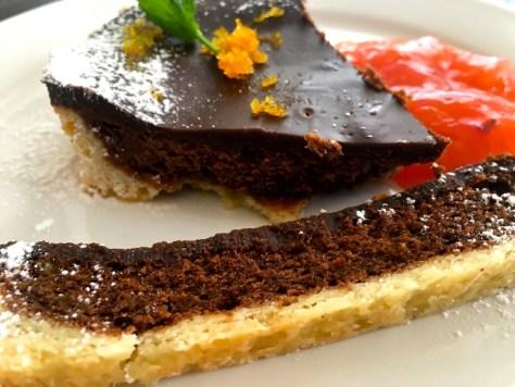 Schokoladen Kuchen mit orange Dessert IMG_7718