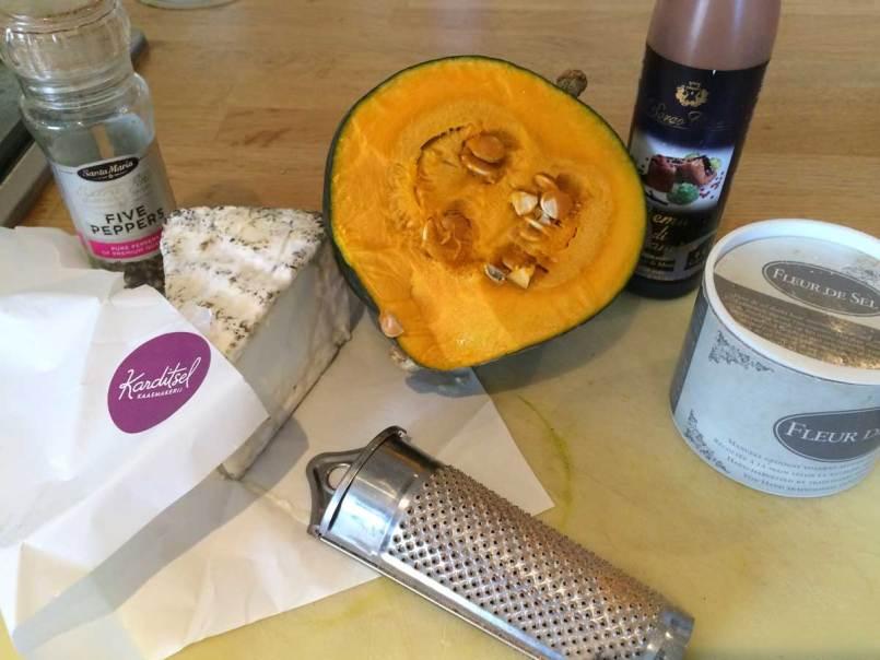 salade pompoen en geitenkaas spiazie recept ingrediënten