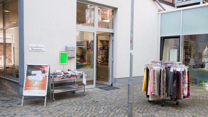 Der Eingang des Geschäfts