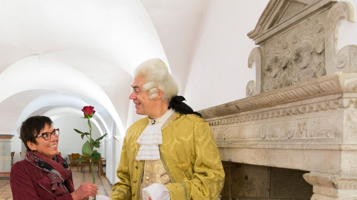 Rosenkavalier Casanova im Renaissancessal Wolfenbüttel