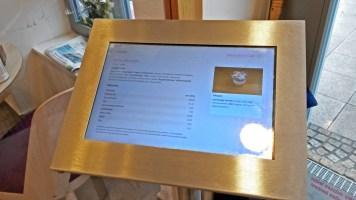 Info-Display für Allergene und Inhaltsstoffe