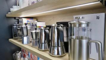 Auch moderne Kaffee- oder Teekultur gibt's bei Messer-Meyer.