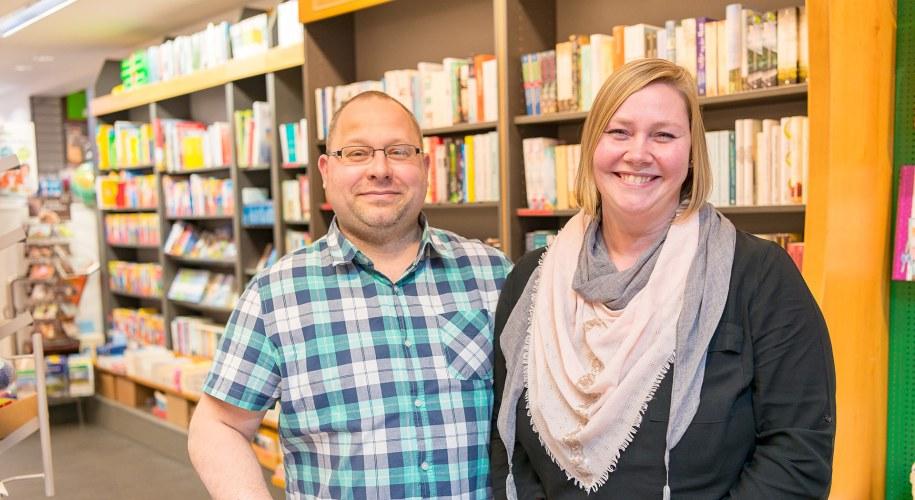 Almut und Marco Runge von der Buchhandlung Steuber