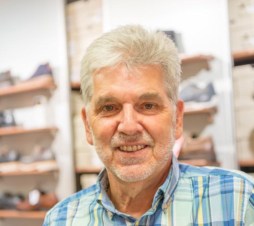 Karl-Heinz Stahlmann von dem Bekleidungsgeschäft Stahlmann.