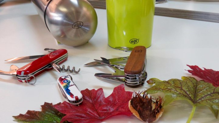 Bei Messer Meyer gibt es Taschenmesser für den Ausflug.