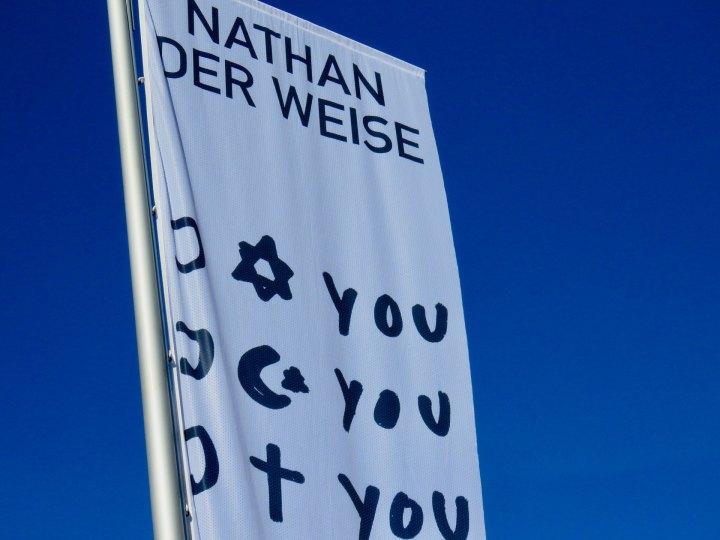 """Fahne mit """"I love You"""""""