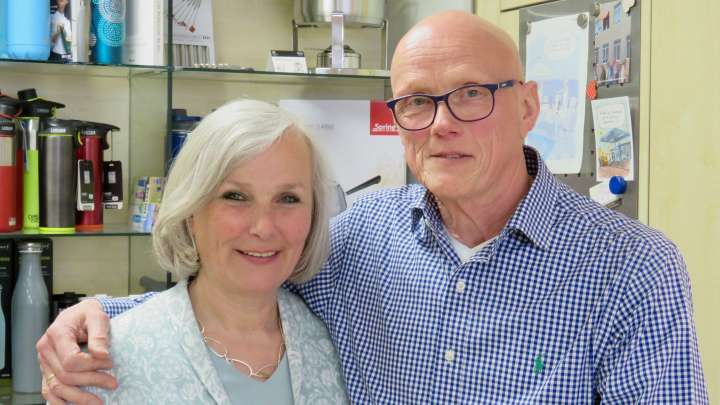Christiane und Uwe Thomas strahlen eine große Harmonie aus.