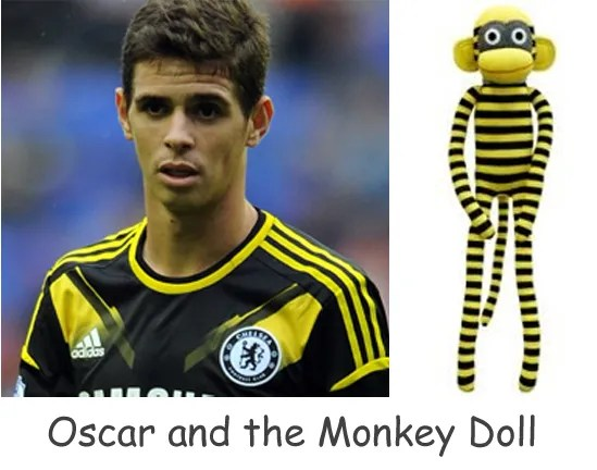 Chelsea's Oscar and Monkey doll